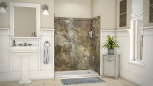 Austin Bathroom Remodel abalone-travertine-royale-full - 1 Day Bath of Texas