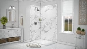 Austin Bathroom Remodel calacatta-white-elegance2-full - 1 Day Bath of Texas