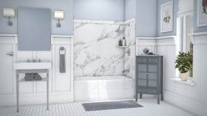 Austin Bathroom Remodel calacatta-white-elite-full - 1 Day Bath of Texas