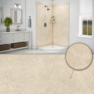 Austin Bathroom Remodel colors_creme-travertine - 1 Day Bath of Texas