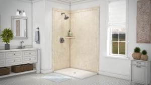 Austin Bathroom Remodel creme-travertine-elegance2-full - 1 Day Bath of Texas