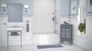 Austin Bathroom Remodel simtile-t3-frost-3wall-tub-6096-full - 1 Day Bath of Texas