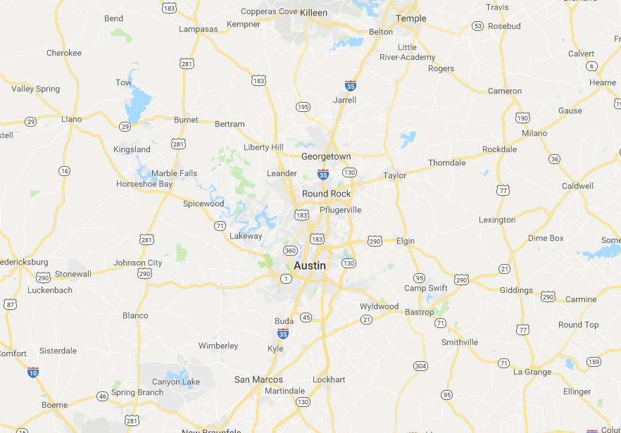 Greater Austin Texas Service Area - 1 Day Bath of Texas